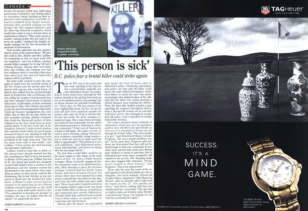 Article Preview: 'This person is sick', November 1995 | Maclean's