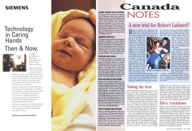 Article Preview: Canada NOTES, November 1995 | Maclean's