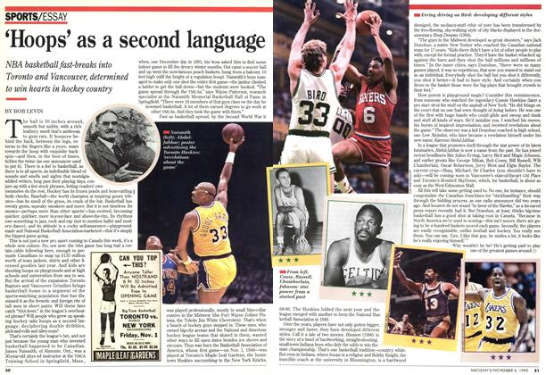 Article Preview: 'Hoops' as a second language, November 1995 | Maclean's