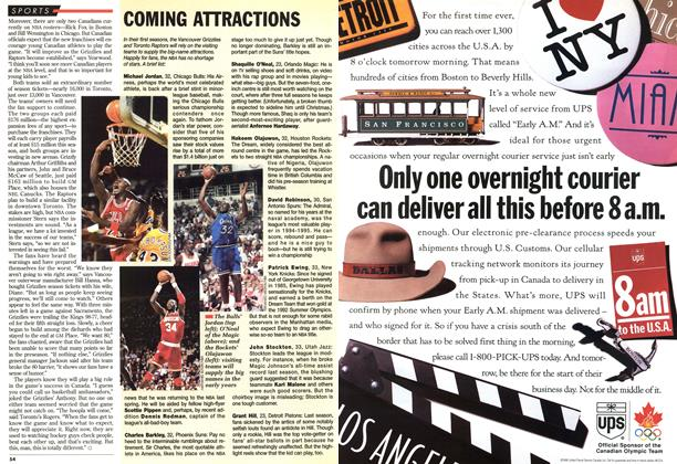 Article Preview: COMING ATTRACTIONS, November 1995 | Maclean's
