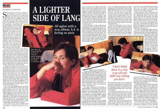 Article Preview: A LIGHTER SIDE OF LANG, November 1995 | Maclean's