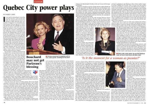 Article Preview: Quebec City power plays, November 1995 | Maclean's