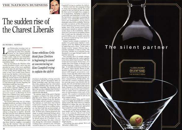 Article Preview: The sudden rise of the Charest Liberals, November 1995 | Maclean's