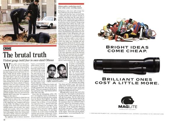 Article Preview: The brutal truth, November 1995 | Maclean's