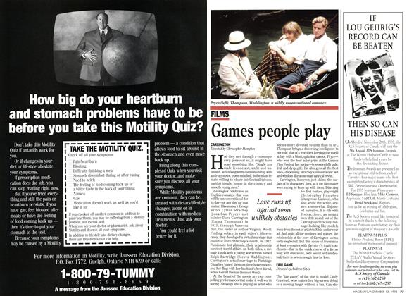 Article Preview: Games people play, November 1995 | Maclean's