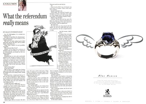 Article Preview: What the referendum really means, November 1995 | Maclean's