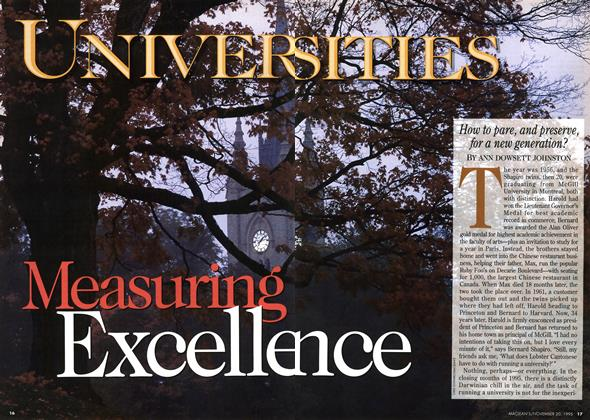Article Preview: Measuring Excellence, November 1995 | Maclean's