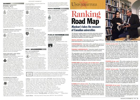 Article Preview: Ranking Road Map, November 1995 | Maclean's