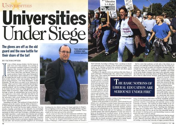 Article Preview: Universities Under Siege, November 1995 | Maclean's