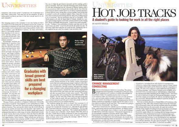 Article Preview: HOT JOB TRACKS, November 1995 | Maclean's