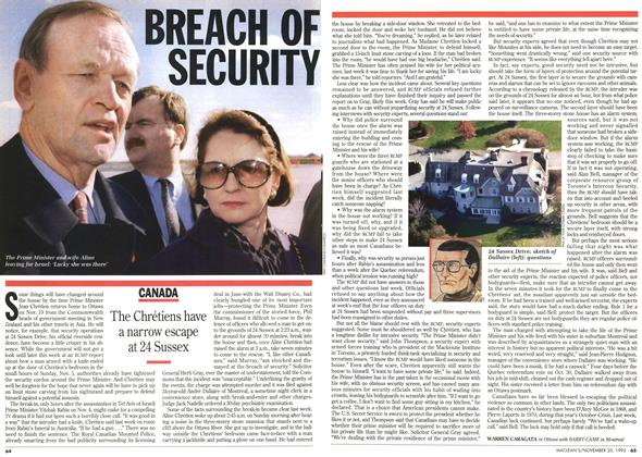 Article Preview: BREACH OF SECURITY, November 1995 | Maclean's