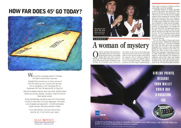Article Preview: A woman of mystery, November 1995 | Maclean's
