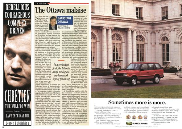 Article Preview: The Ottawa malaise, November 1995 | Maclean's