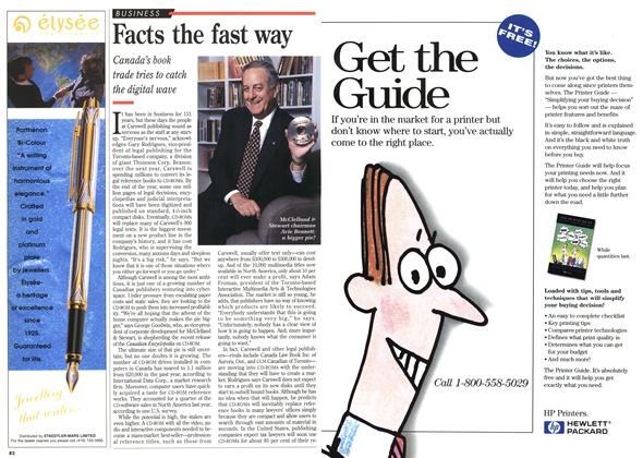 Article Preview: Facts the fast way, November 1995 | Maclean's