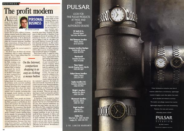 Article Preview: The profit modem, November 1995   Maclean's