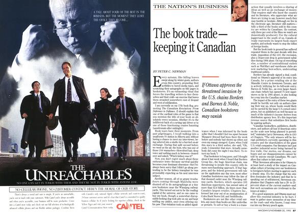 Article Preview: The book trade— keeping it Canadian, November 1995 | Maclean's