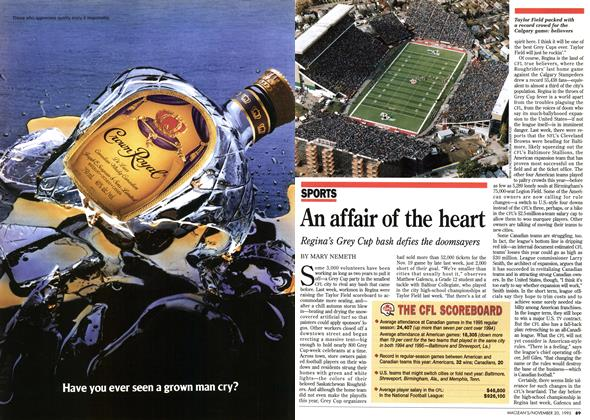Article Preview: An affair of the heart, November 1995 | Maclean's