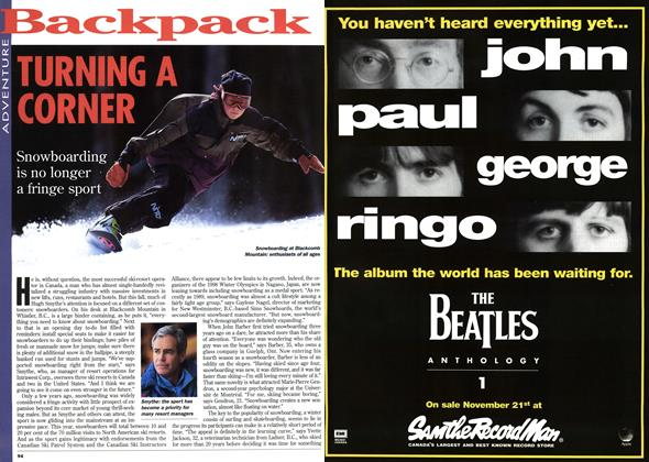 Article Preview: TURNING A CORNER, November 1995 | Maclean's