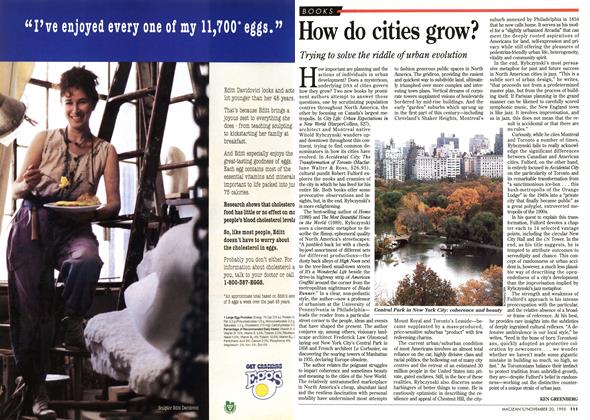 Article Preview: How do cities grow?, November 1995 | Maclean's
