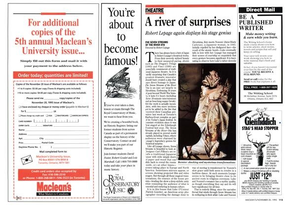 Article Preview: A river of surprises, November 1995 | Maclean's