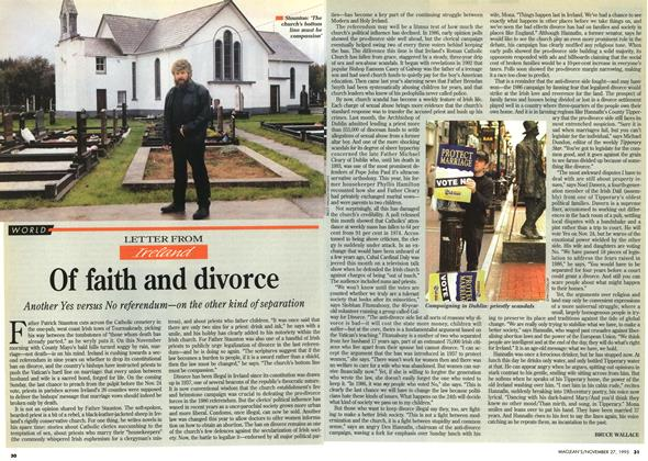 Article Preview: LETTER FROM Ireland Of faith and divorce, November 1995 | Maclean's