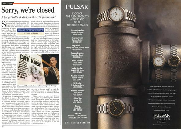 Article Preview: Sorry, we're closed, November 1995 | Maclean's