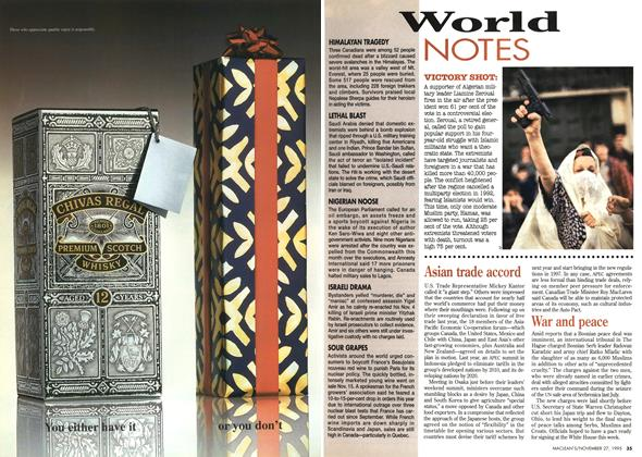Article Preview: World NOTES, November 1995 | Maclean's