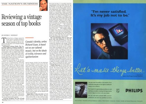Article Preview: Reviewing a vintage season of top books, November 1995 | Maclean's