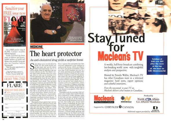 Article Preview: The heart protector, November 1995 | Maclean's