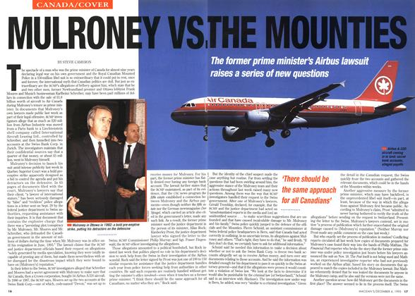 Article Preview: MULRONEY VS. THE MOUNTIES, December 1995 | Maclean's