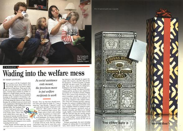 Article Preview: Wading into the welfare mess, December 1995 | Maclean's