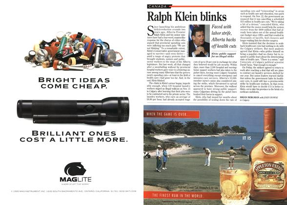 Article Preview: Ralph Klein blinks, December 1995 | Maclean's