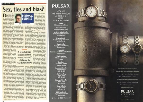 Article Preview: Sex, ties and bias?, December 1995 | Maclean's