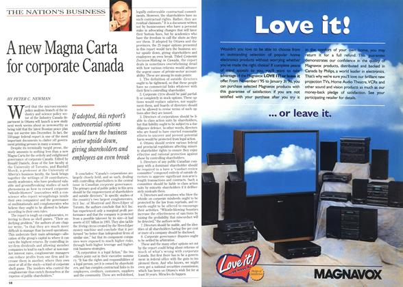 Article Preview: A new Magna Carta for corporate Canada, December 1995 | Maclean's