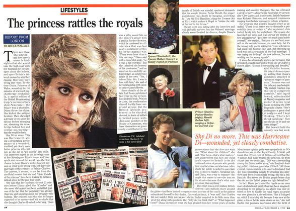 Article Preview: The princess rattles the royals, December 1995 | Maclean's