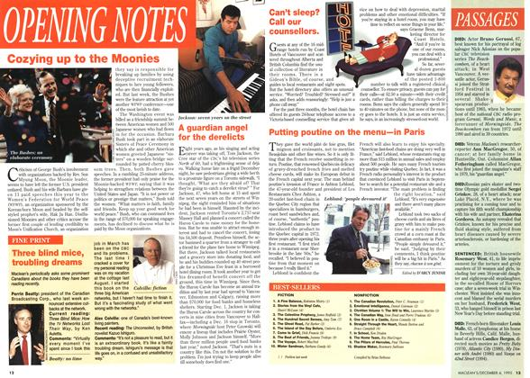 Article Preview: OPENING NOTES, December 1995 | Maclean's