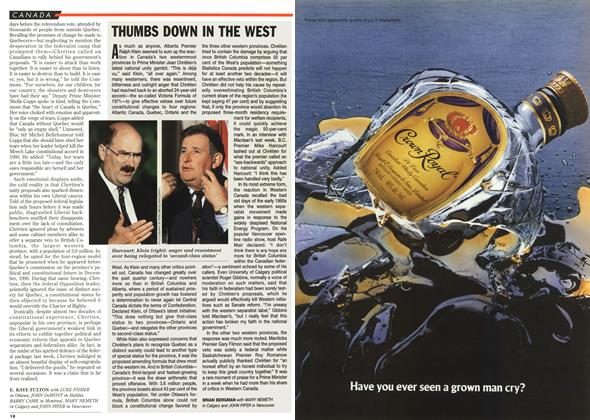 Article Preview: THUMBS DOWN IN THE WEST, DECEMBER  1995 | Maclean's