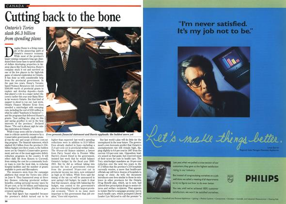 Article Preview: Cutting back to the bone, DECEMBER  1995 | Maclean's
