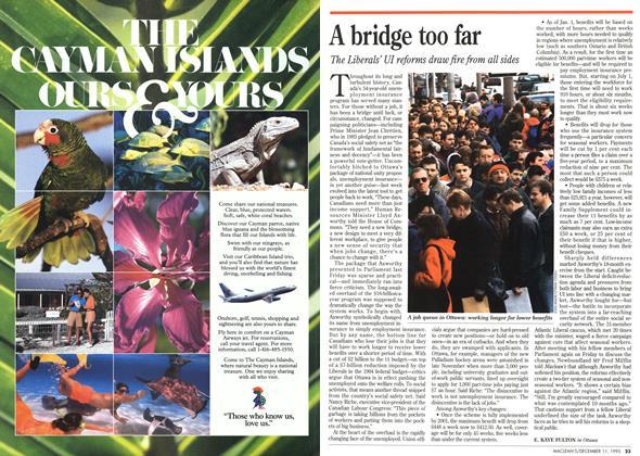 Article Preview: A bridge too far, DECEMBER  1995 | Maclean's
