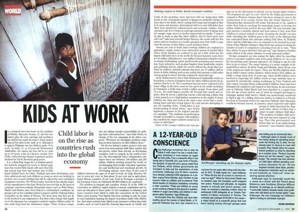 Article Preview: KIDS AT WORK, DECEMBER  1995   Maclean's