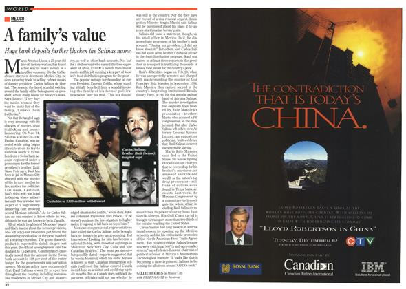 Article Preview: A family's value, DECEMBER  1995 | Maclean's