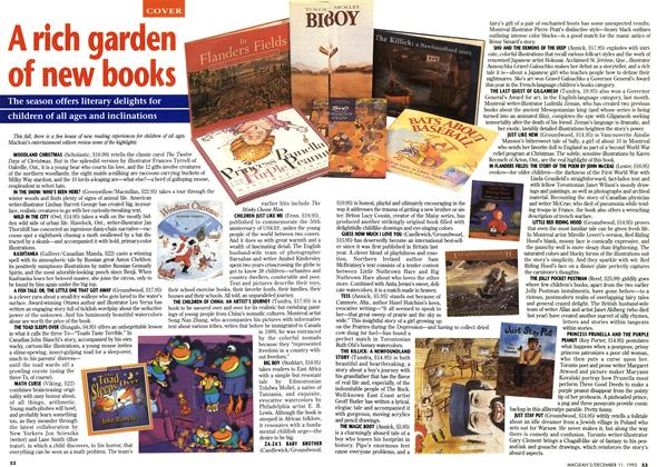 Article Preview: A rich garden of new books, DECEMBER  1995 | Maclean's