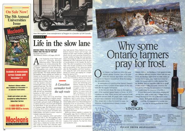 Article Preview: Life in the slow lane, DECEMBER  1995 | Maclean's