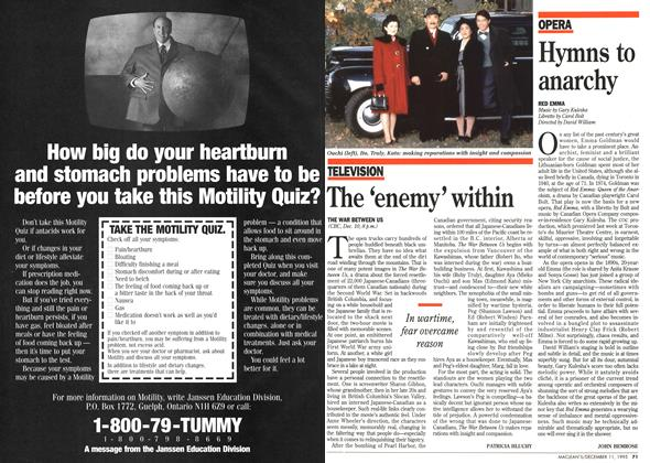 Article Preview: Hymns to anarchy, DECEMBER  1995 | Maclean's