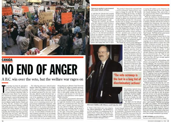 Article Preview: NO END OF ANGER, December 1995 | Maclean's