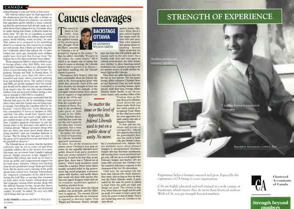 Article Preview: Caucus cleavages, December 1995 | Maclean's