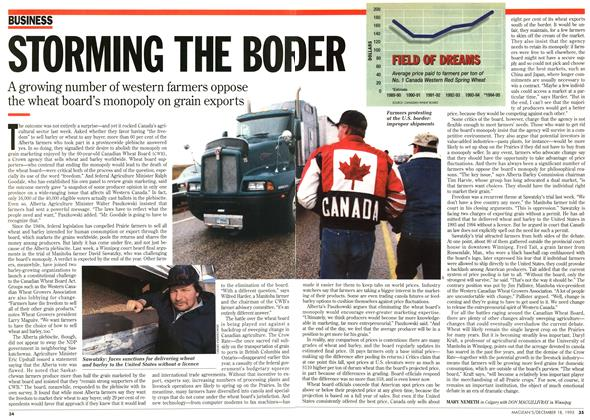 Article Preview: STORMING THE BORDER, December 1995 | Maclean's