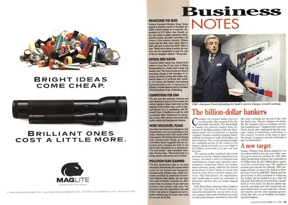 Article Preview: Business NOTES, December 1995 | Maclean's