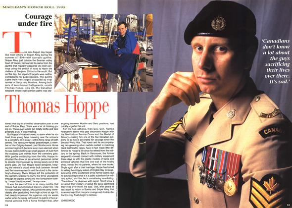 Article Preview: Courage under fire, December 1995 | Maclean's