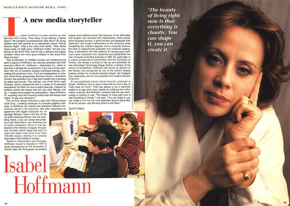 Article Preview: A new media storyteller, December 1995 | Maclean's